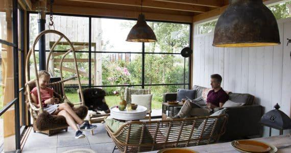 De luxe tuinkamer van Jan en Sandra